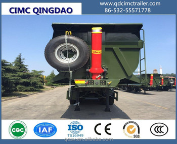 Heavy duty 3 axles 40CBM sinotruk dump truck trailer for senegal