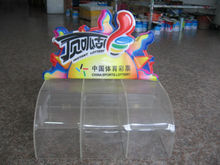 clear acrylic lottery box with heat transfer printing logo