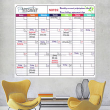 custom self-adhesive large dry erase whiteboard calendar for wall office