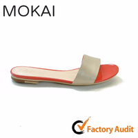 MK043-1 TAWNY Hot sale handmade genuine leather slippers for women fashion slippers