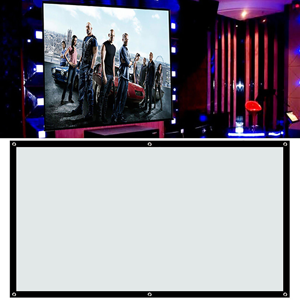 Easy installation and disassembly make it more comfortable 100'' inch 16:9 Fabric Matte Projector Projection Screen