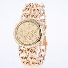 Stock wholesale and OEM sw15071 fashion vogue watch chain bracelet lady watch