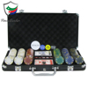 300 pieces Clay casino chips premium poker chip set