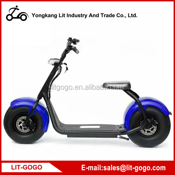 Green power lithium battery fat tire harley evo electric scooter for sale