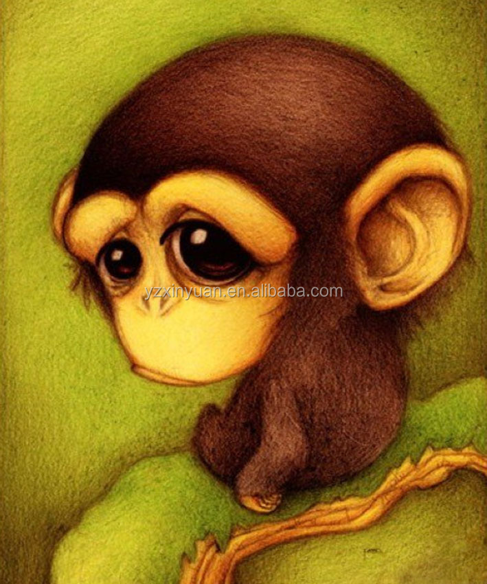 Cartoon <strong>Monkey</strong> diy diamond painting cross stitch rhinestone mosaic diamond <strong>embroidery</strong> pasted painting crystal decoration craft