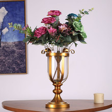 4057 decorative objects decoration items producrs for home decoer modern home decor metal glass vase