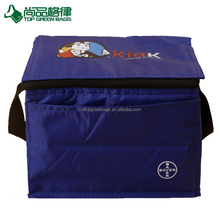 Hot sale reusable insulated six pack cooler handy cooler pack with front pocket