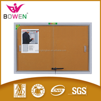 designer bulletin board Fabric pin cork board decorative with aluminum frame with LDF board for school and office supplier BW-V1