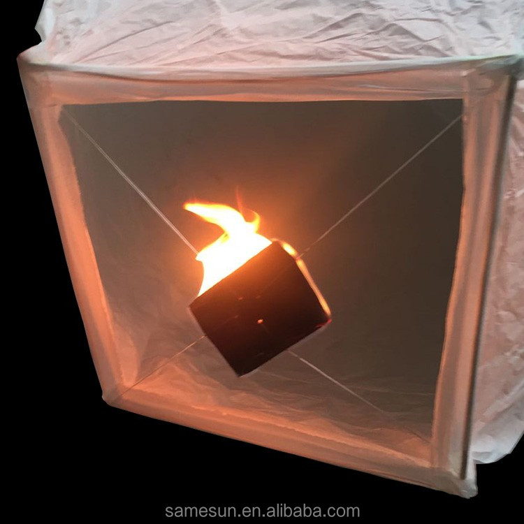 Latest square bottom folding flying sky lantern