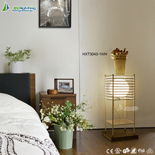 New design cordless restaurant small decorative table lamp with white glass ball HXT2101-1WH