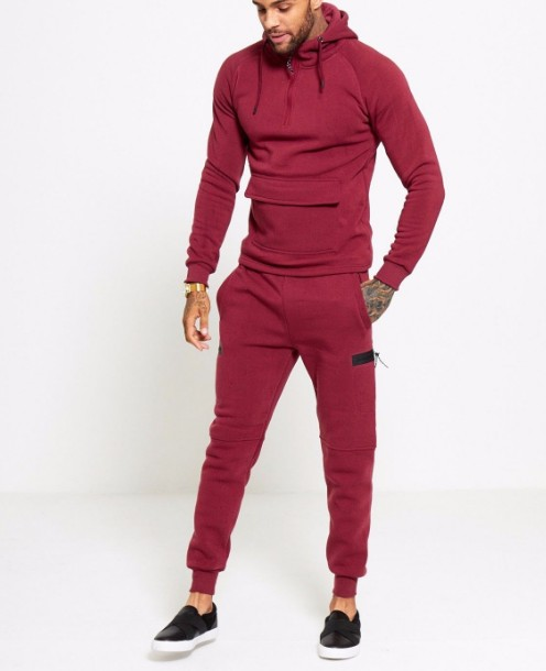 Cotton & Spandex Highly Stretch and Soft Men's Stretch Slim Fit Tracksuits For Workout