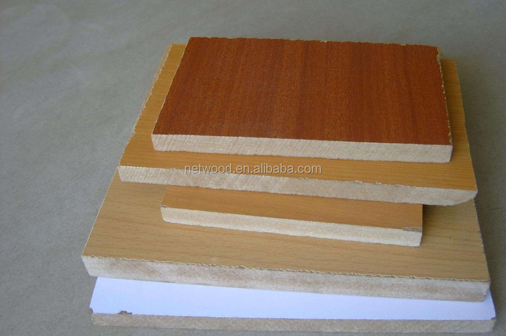18mm Both sides decorative paper wood grain Melamine MDF