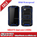 Shenzhen Android 4.2 mtk6582 Dual Core rugged phone with bluetooth GPS