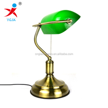 classic green glass lamp shade wholesale factory price /banker desk lamp
