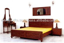 Carved bedroom furniture