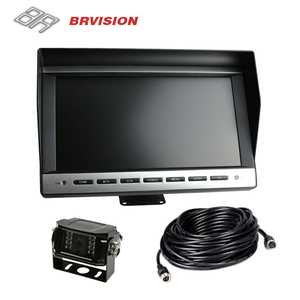 10 inch TFT Color LCD Auto Parking Rearview Monitors 4.3 inch Car Foldable Monitor For Camera DVD VCR 12~24V 2 Video Input