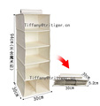 2017 promotional eco-friendly four six shelf clothes hanging closet organizer