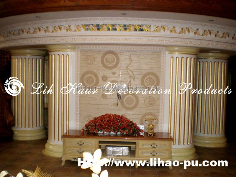 Manufacturer polyurethane villa decoration wall board/ pu cornice
