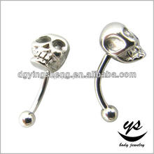 Skull design belly button ring body piercing