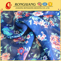 Latest design for dress 100% polyester french printed chiffon