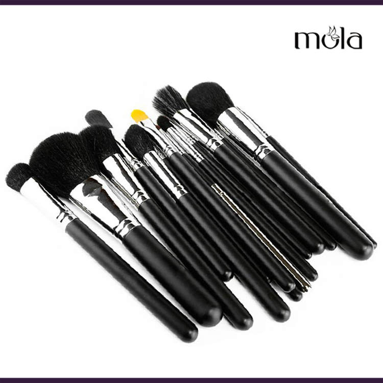 High quality original goat hair go pro 15 pcs makeup kit make-up brush factory price