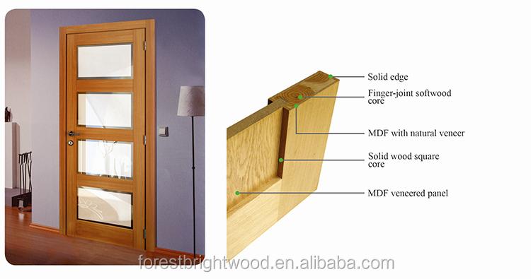 Wood interior sliding frosted glass pocket doors view for 1 panel inlaid oak veneer door