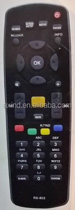 HUMAX RS-803, TV REMOTE CONTROL FOR TURKEY MARKET, ANHUI TIANCHANG FACTORY