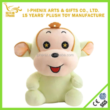 Logo embroidered colorful mini monkey plush toy wholesale cheap monkey for promotion