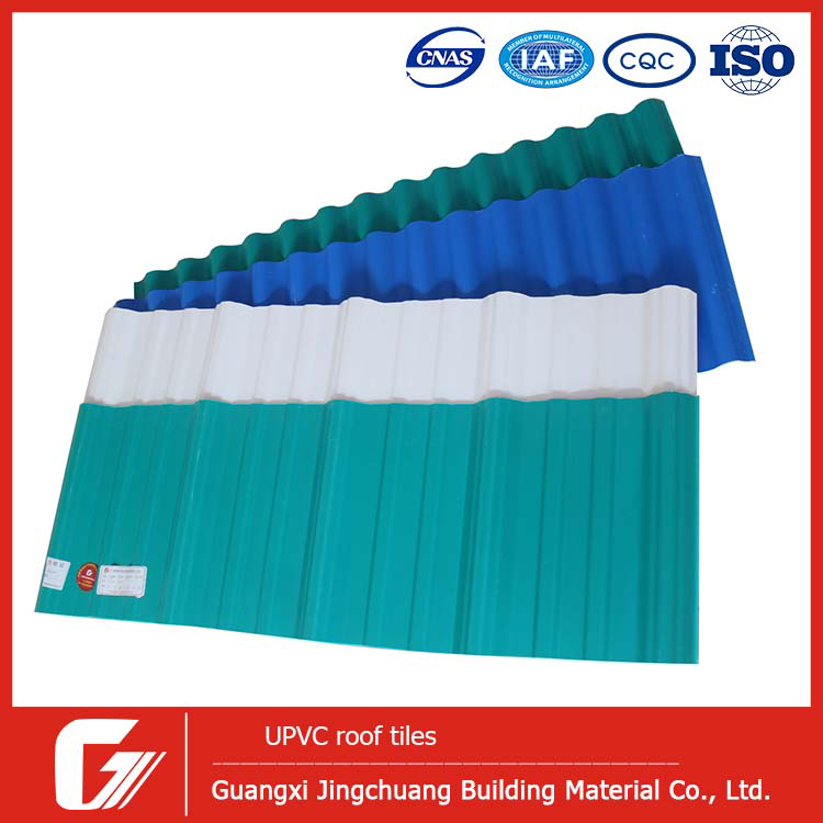 Easy operating pvc plastic flat synthetic model house roof