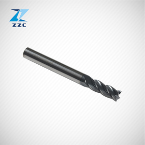 2 flutes carbide end mill for counterboring of aluminum copper and graphite