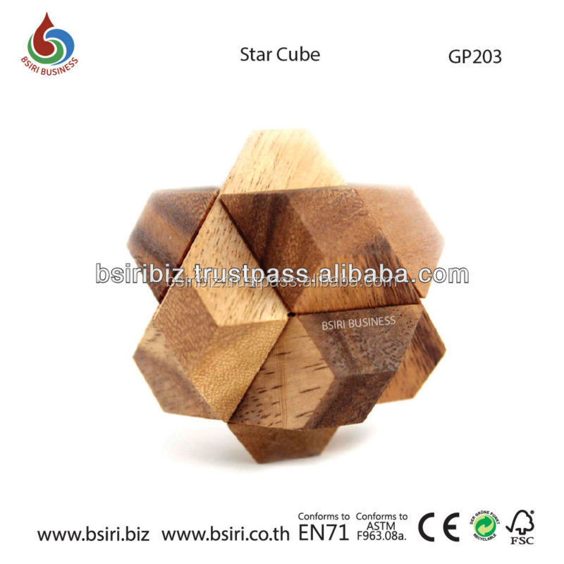 Star Cube Interlocking Wooden Puzzles & Games