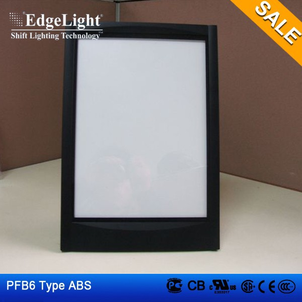 Edgelight PF3-A4 ABS material led advertising light box sign