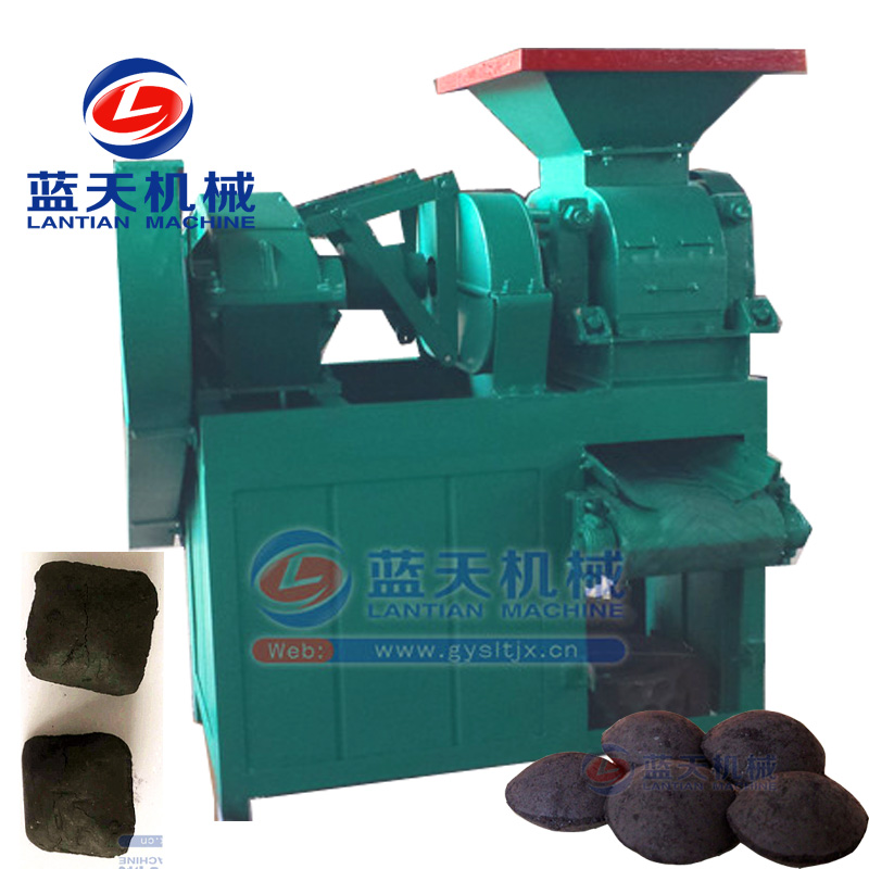 Automatic charcoal or ball briquette press making machine for bbq or boiler in Indonesia