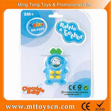 Baby blue color wholesale ABS plastic rattles