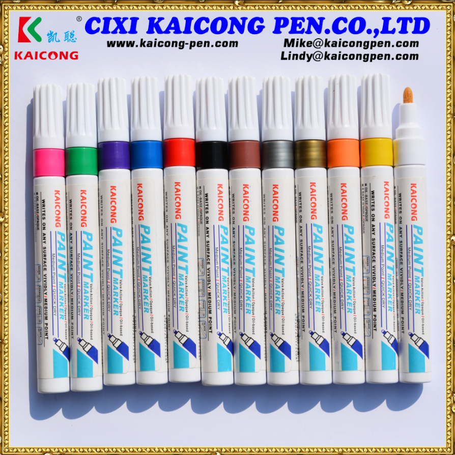 Aluminum Barrel Paint Marker with Japanese Acrylic and opaque inkpromotion Valve Action paint marker PM-755