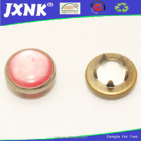 good design high quality garments accessories pink pearl snap fasteners