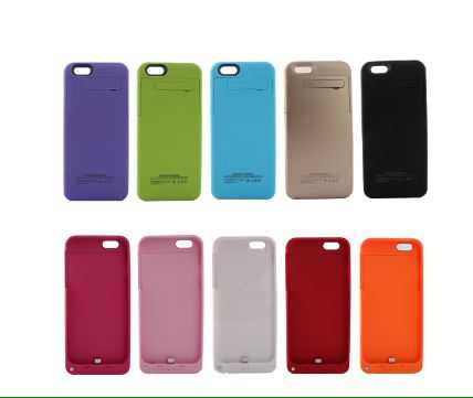 2800mAh solar energy Rechargeable External Battery Backup Charger Case Cover Pack Power Bank for Apple iPhone 6