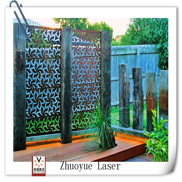 Garden Decor Laser Cut Outdoor Metal Privacy Screen
