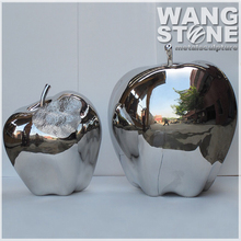 Large Outdoor Stainless Steel Apple Sculpture