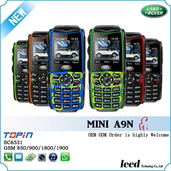 3 proofs model phone A9N small size big battery waterproof landrover