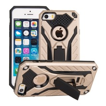 Slim Armor Case For Iphone 5G, 2 in 1 PC+TPU Combo Kickstand Back Cover Case For Iphone 5g