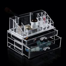 Beauty Acrylic makeup organizer- Double Diamond wall mounted acrylic cosmetic makeup organizer holder cosmetic box