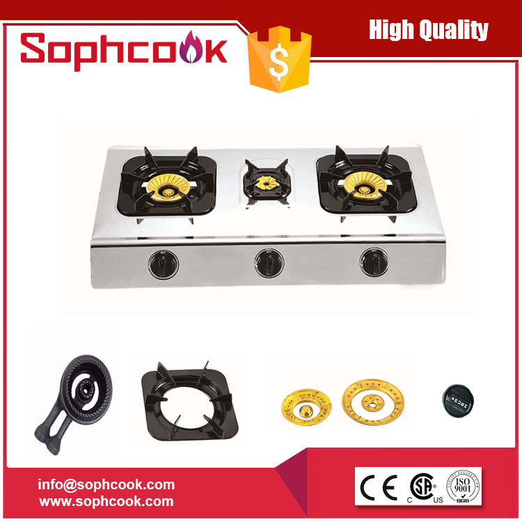 Universal Gas Range Stove / Gas Cooker with 3 Burners