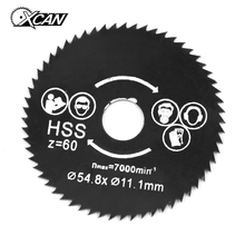 54.8mm Diameter 11.1mm Bore 60T Mini HSS Circular Saw Metal Cutting Blade Disc