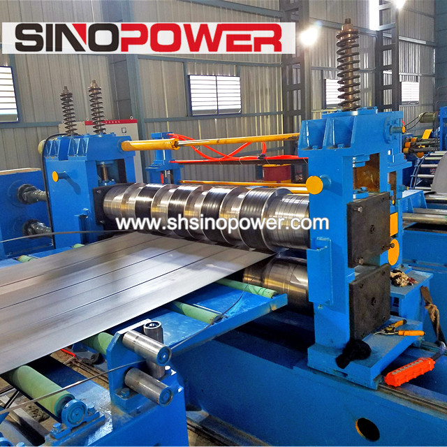 Heavy plate coil long life high speed slitting machines slitting process