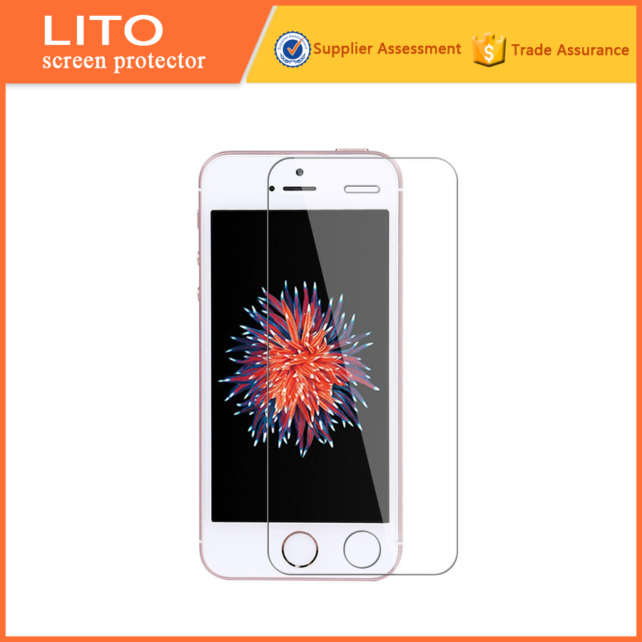 Anti-shock tempered glass protective screen film for apple mobile phone