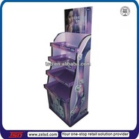 TSD-C324 Custom high quality cardboard cosmetic point of sale display,cosmetics display units,store furniture for cosmetics
