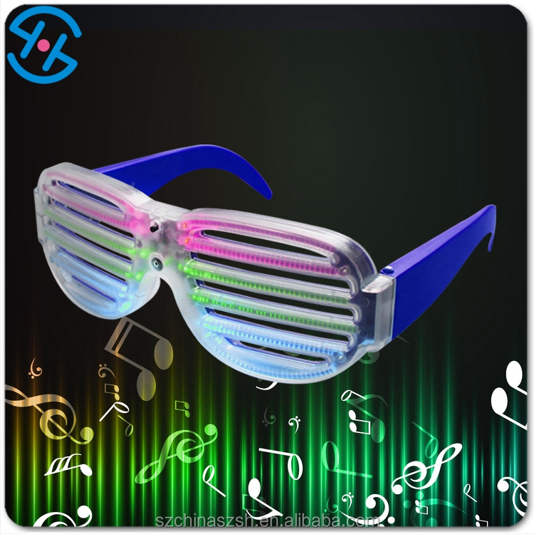 Battery Operated plastic toy eyeglasses, led party sunglasses/