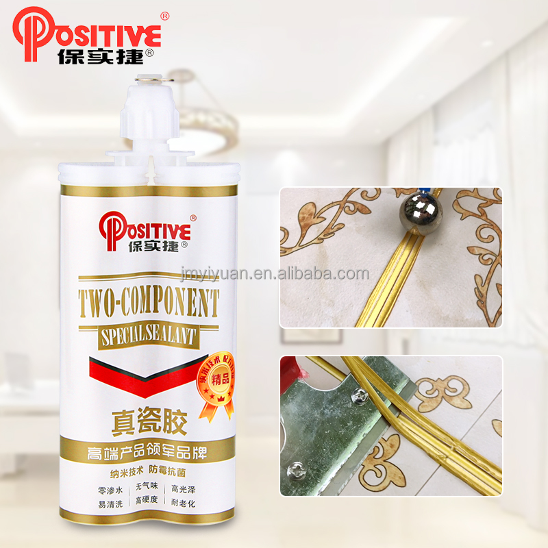 Two components epoxy glue for ceramic tiles