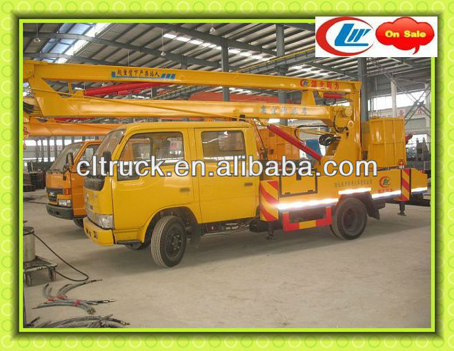 factory supply Aerial Work Platform Truck,hydraulic aerial cage